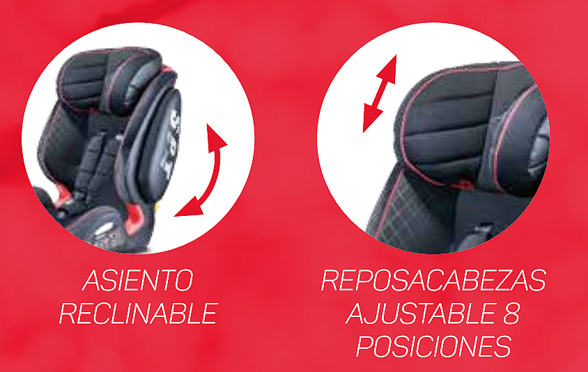 asiento reclinable