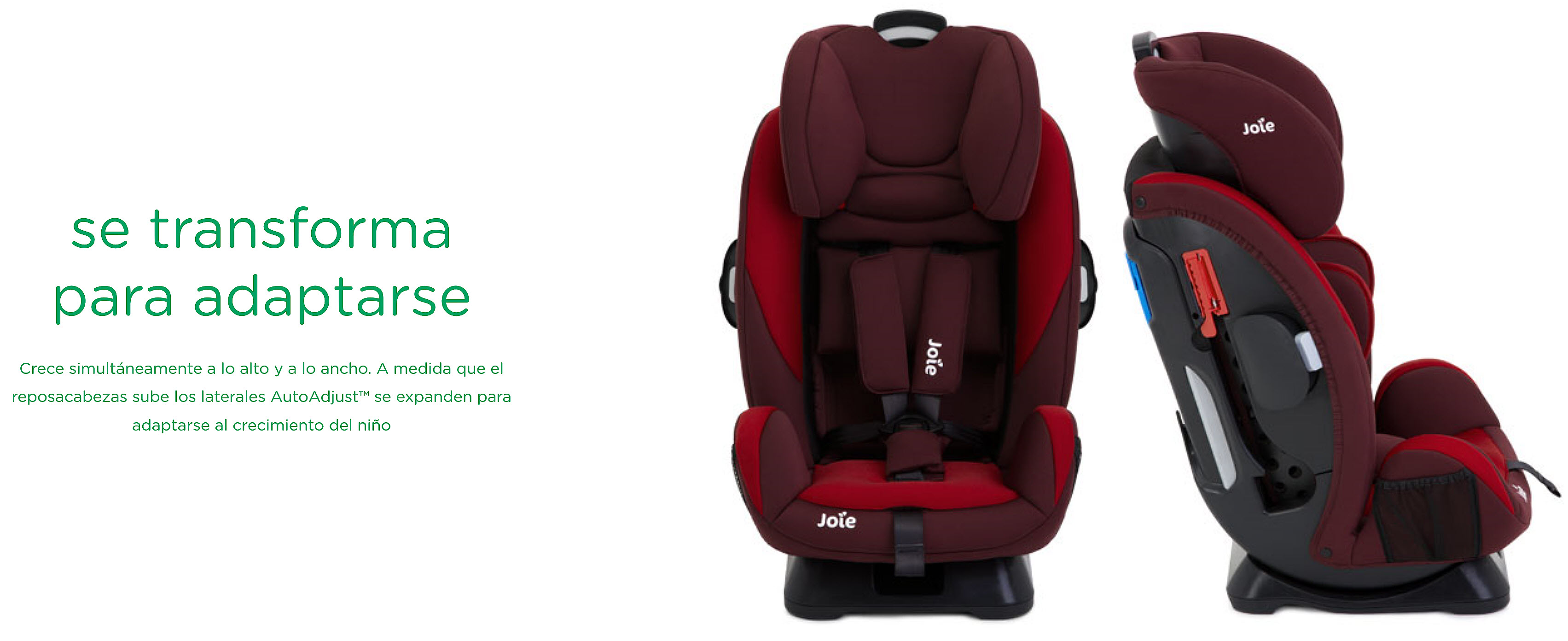 SILLA AUTO JOIE EVERY STAGE, SE TRANSFORMA Y SE ADAPTA
