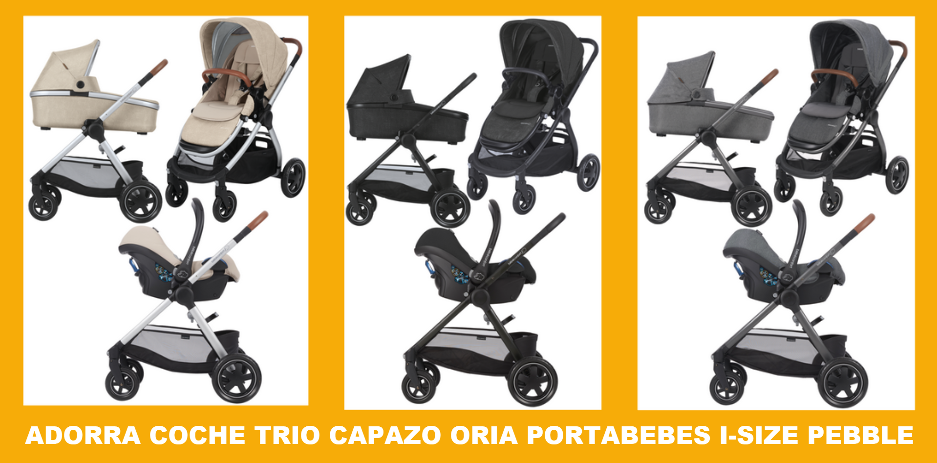COCHE DE PASEO TRIO ADORRA PEBBLE PLUS
