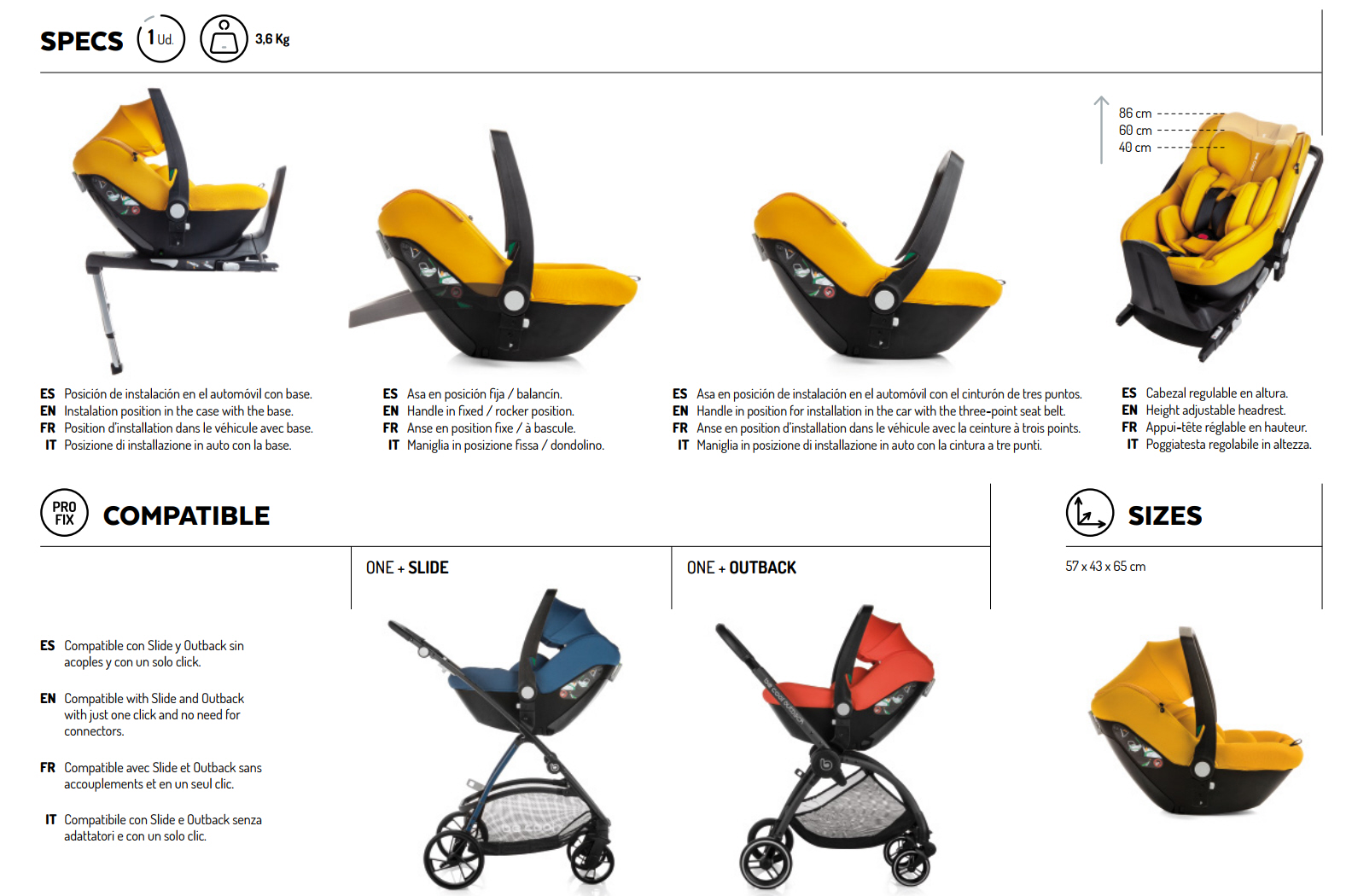 PORTABEBES ONE BE COOL TRAVEL SYSTEM 2