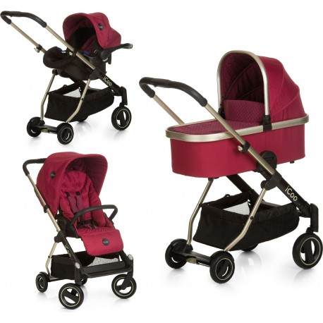 Cochecito trio ICOO  Acrobat XL Plus Morado Diamond Ruby