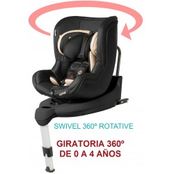 SILLA AUTO SWIVEL ROTATIVE MS NEGRO BEIGE