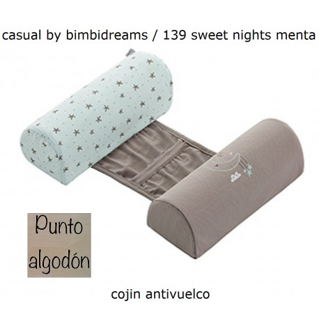 COJIN ANTIVUELCO BIMBI DREAMS SWEET NIGHTS MENTA PUNTO ALGODON