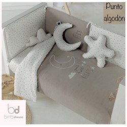 FUNDA NORDICA CUNA BIMBI DREAMS SWEET NIGHTS TAUPE