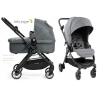 Cochecito Baby Jogger City Tour LUX DUO color GRIS, capazo y barra