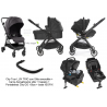 Cochecito  trio Baby Jogger City Tour LUX  Color negro con  capazo, barra y City GO i-Size y base ISOFIX