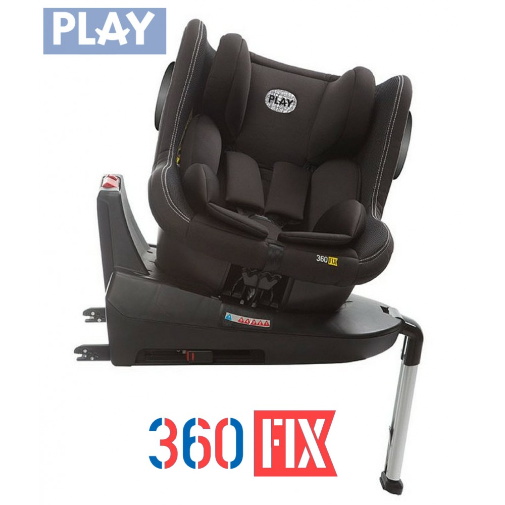 708dbdae1 SILLA AUTO PLAY 360 FIX, COLOR NEGRO 308- ONYX
