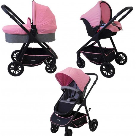 TRIO CONFORT PLUS ASALVO COLOR ROSA, FOTO 01