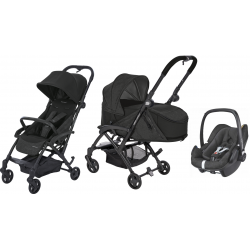 COCHE 3 PIEZAS LAIKA PEBBLE PLUS BEBE CONFORT NOMAD BLACK