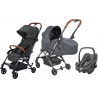 COCHE 3 PIEZAS LAIKA PEBBLE PLUS BEBE CONFORT SPARKLIMG GREY