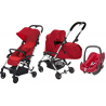 COCHE 3 PIEZAS LAIKA PEBBLE PLUS BEBE CONFORT VIVID RED