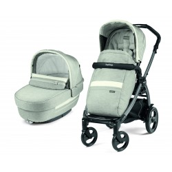 CARRO 2 PIEZAS PEG PEREGO BOOK 51 LUXE ELITE CHASIS TITANIO COLOR  PURE GRIS Y BLANCO
