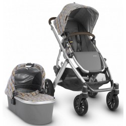 UPPABABY VISTA DUO SPENCER GRIS Y AMARILLO TARTÁN