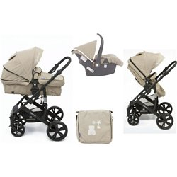 CARRO BELOVED 3 EN 1 KIKKABOO BEIGE
