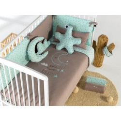 FUNDA NORDICA CUNA CON PROTECTOR Y RELLENO BIMBI DREAMS SWEET NIGHTS MENTA