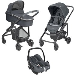LILA SP 3 PIEZAS MAXI COSI ROCK  ESSENTIAL GRAPHITE
