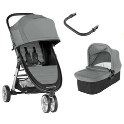 BABY JOGGER CITY MINI2 3 RUEDAS CARRO DUO SLATE GRIS