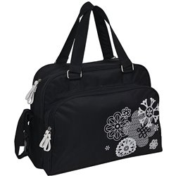 Bolso BABY ON BOARD Simply Mexico noir print silver et blanc