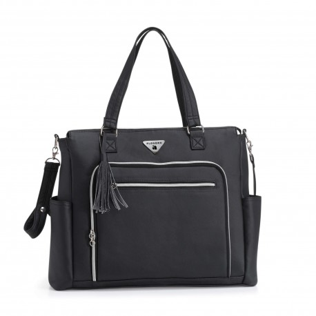 BOLSO MATERNAL ALONDRA POLIPIEL NEGRO