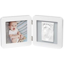My Baby Touch Simple Frame White Baby Art