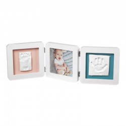 Marco My Baby Touch Double Print Frame White Baby Art